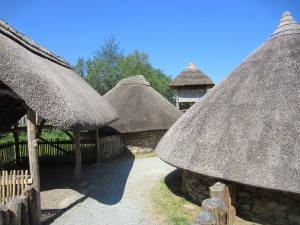 Reconstruction of an Iron Age fort at the Irish National Heritage Museum near Wexford