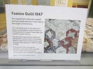 Famine Quilt at the Irish Agricultural Museum